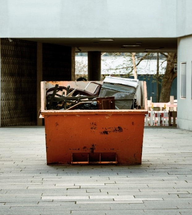 benne 30 mètres cubes gravats, déchets verts, ferrailles, DIB Montsoult